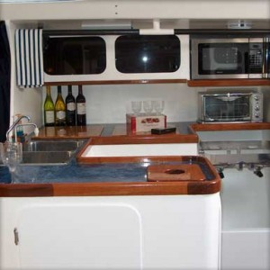 """Peligroso"" 68' Racing Sled - Galley"