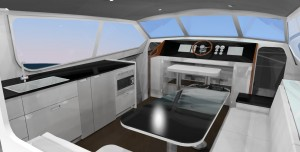 37' Powercat Interior